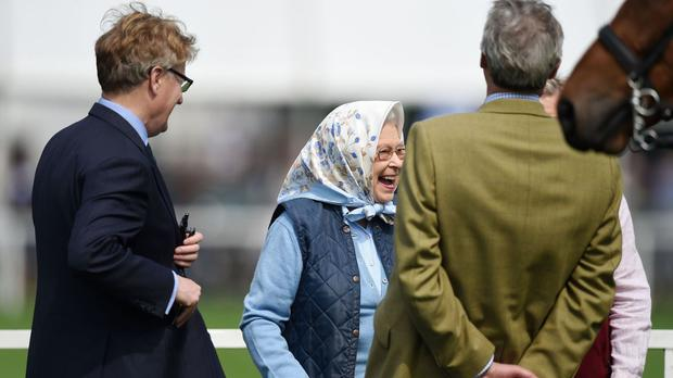 The Queen proved every little helps as she beamed upon being presented with a Tesco voucher at the Royal Windsor Horse Show
