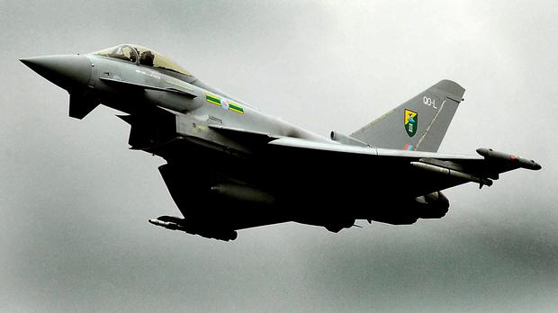 Typhoon jets were scrambled over the Baltic