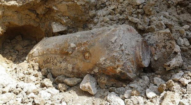 The 500lb Second World War shell was unearthed by contractors at Royal High School