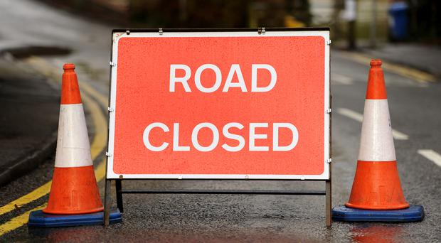 The road was closed after the crash