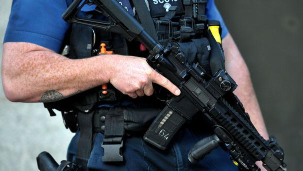 A police firearms officer