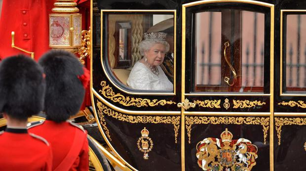 The Queen heads to Westminster for the State Opening of Parliament