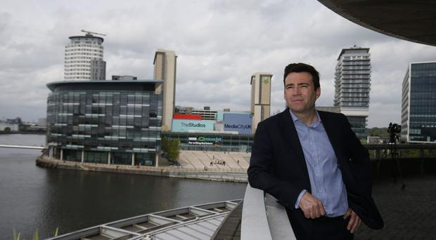 Andy Burnham, after speaking at the Lowry Theatre in Manchester