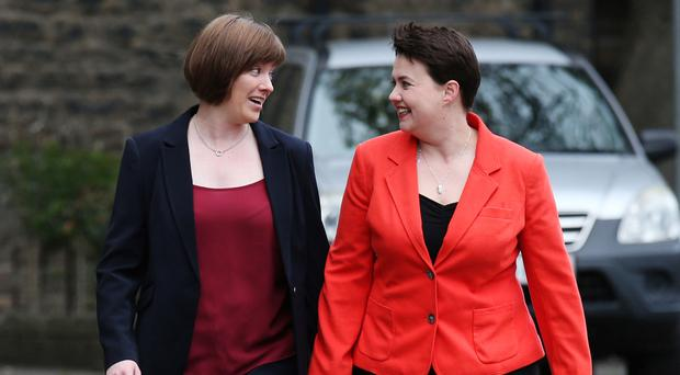 Ruth Davidson, right, announced on Twitter that she had proposed to Jen Wilson