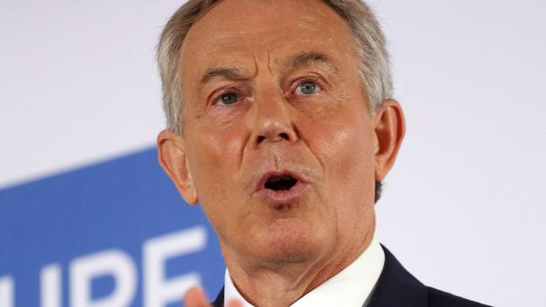 Tony Blair stressed that IS had to be tackled before it could make further inroads in Libya