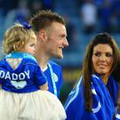 Leicester City's Jamie Vardy and fiancee Rebekah Nicholson
