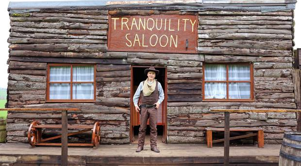 Tranquility Saloon, a shed owned by Alistair Baranowski in Aberdeenshire, which has been shortlisted in the Pub and Entertainment category in the Shed of the Year competition (Cuprinol/PA)
