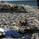 Tributes on the beach in Sousse, Tunisia, following the terror attack in June 2015