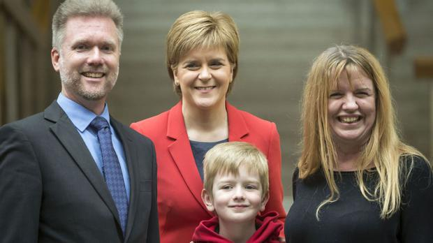 The Brain family meet with First Minister Nicola Sturgeon in Edinburgh to discuss their case