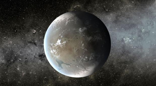 An artist's impression of the planet Kepler 62f, which scientists believe could have conditions suitable for life (NASA/JPL-Caltech/T. Pyle/PA Wire)