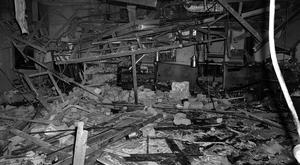 The wreckage of the Mulberry Bush pub in Birmingham after a bomb exploded in November 1974