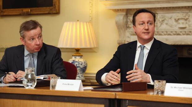 Michael Gove warned that David Cameron's