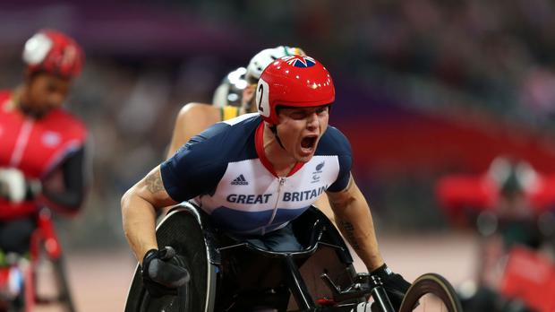 David Weir completed the Westminster Mile in under three minutes