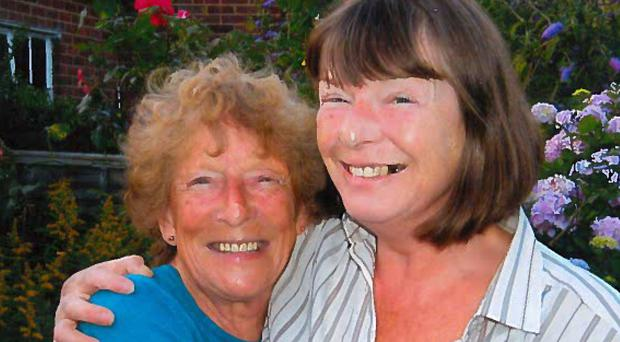 Murdered British expat Patricia Wilson, right, with her mother Jean (Slater and Gordon/PA)