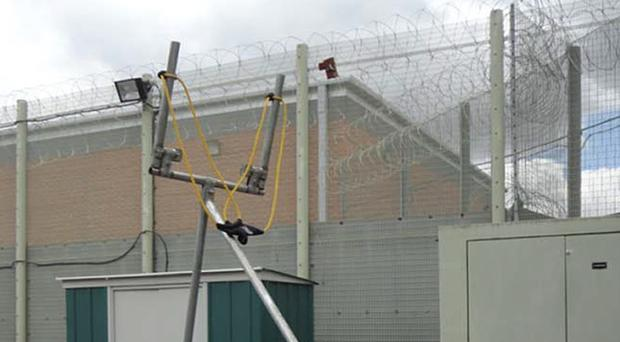 A catapult used to propel contraband into a prison (HM Inspectorate of Prisons)
