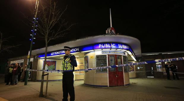 A police cordon outside Leytonstone Tube station after Muhaydin Mire launched a knife attack on passengers