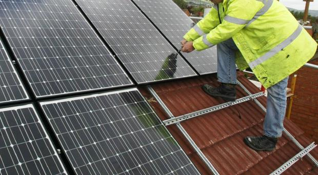 Installing domestic solar panels