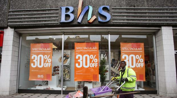 A BHS store in Wood Green, north London