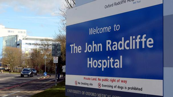 The spectator was taken to The John Radcliffe Hospital