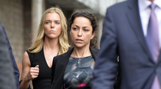 Former Chelsea FC team doctor Eva Carneiro arrives at the employment tribunal in Croydon where she is expected to give evidence in her case against the club and ex-manager Jose Mourinho