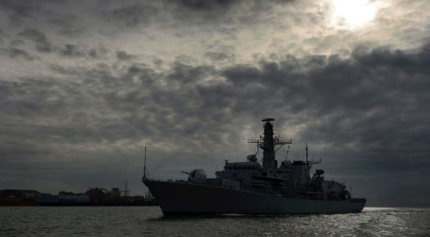HMS Kent first detected the Russian submarine in the North Sea