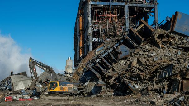 The aftermath of the Didcot power station collapse