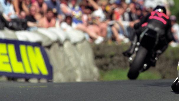 Action at the Isle of Man TT Races, where two further competitors have been killed