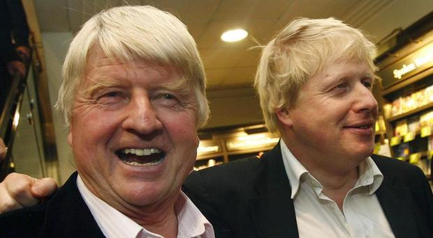Remain supporter Stanley Johnson (left) with son Boris