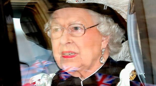 The Queen arrives for the Order of the Garter Service at Windsor Castle. Photo by Chris Jackson/Getty Images