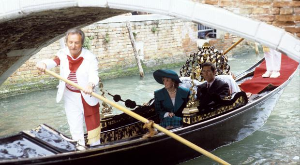 Diana and Charles pictured during their trip to Venice