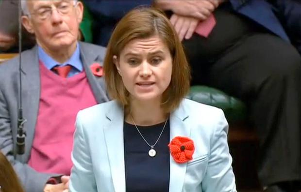 Jo Cox speaking in the House of Commons