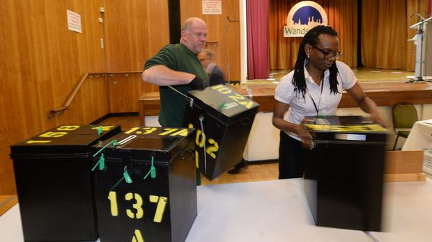 Ballots begin to be counted after voters went to the polls in a by-election in Tooting