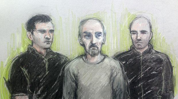 Thomas Mair (centre) is due to appear at the Old Bailey