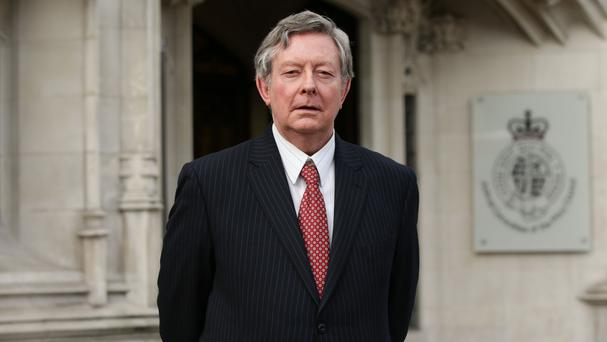 Murray Pringle outside the Supreme Court in London, where he and Simon Pringle are involved in a legal dispute claiming rights to the baronetcy of Pringle of Stichill
