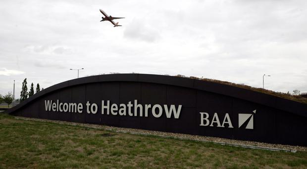 A man has been arrested at Heathrow airport on suspicion of terrorism offences