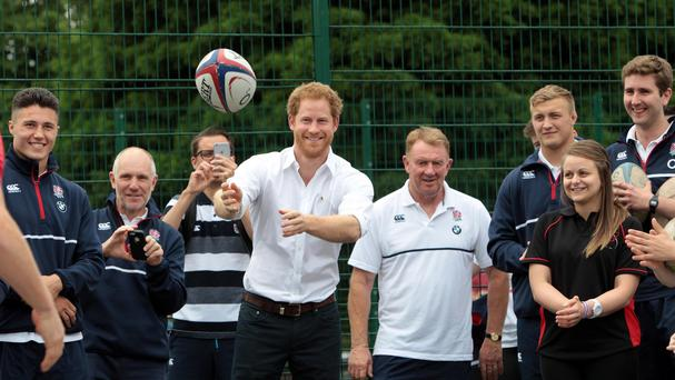 Harry has his eye on the ball