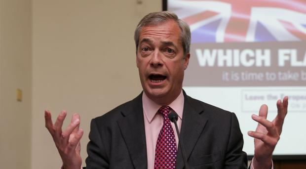 Nigel Farage was due to take part in a TV debate