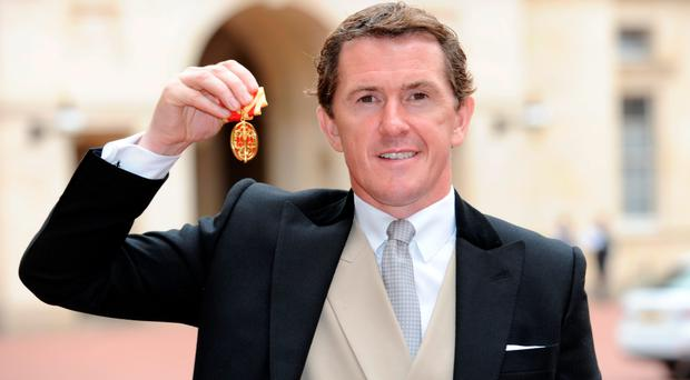 Former jockey Sir Tony McCoy after he was made a Knight Bachelor by the Princess Royal yesterday. Photo: Nick Ansell/PA Wire