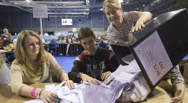 The counting of votes from the Glasgow Region starts at the city's Emirates Stadium after the polls closed in the European Union Referendum.