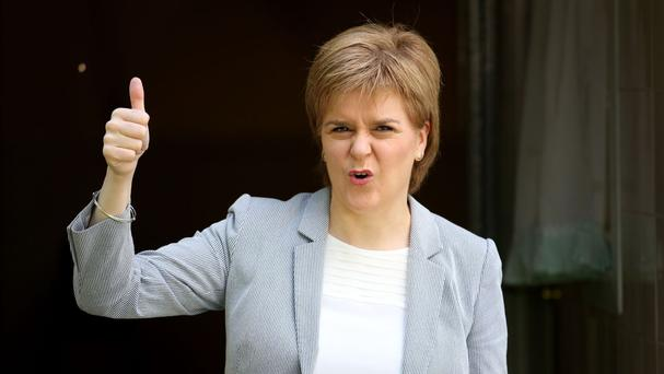 First Minister Nicola Sturgeon is looking at holding a second independence referendum