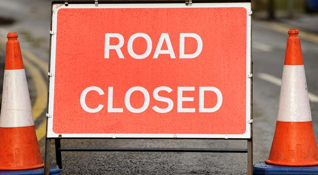 It is expected the road will remain closed for all of Sunday