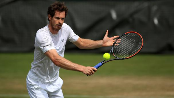 Andy Murray will be in action on Centre Court