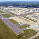 An aerial view of Gatwick Airport in Sussex