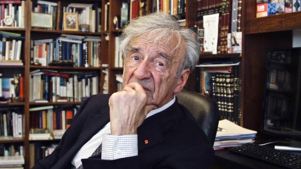 Elie Wiesel pictured in his New York City office in 2012 (AP)