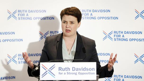 Ruth Davidson said she would argue against holding a second Scottish independence referendum but that the UK Government should not block one