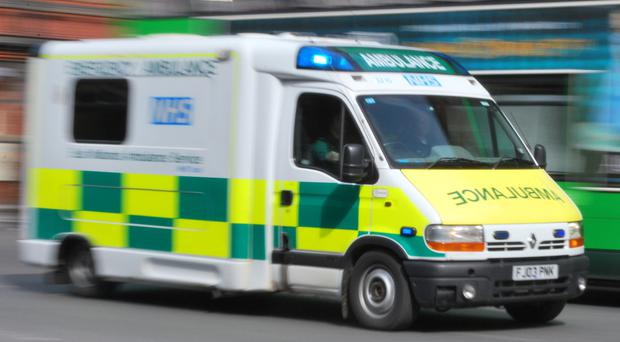 At least four young men needed hospital treatment in Newport on the Isle of Wight
