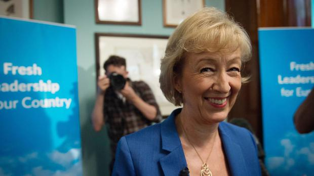 Andrea Leadsom launches her bid for the Tory leadership in London