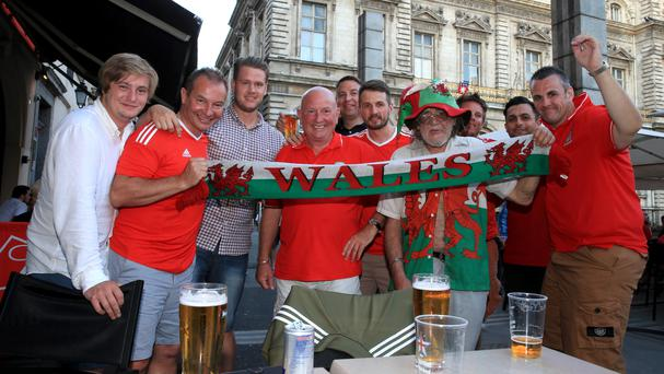 Wales fans gather in Lyon ahead of the Euro 2016 showdown with Portugal