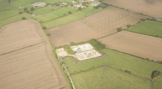 Developers were given permission to frack for shale gas using an existing two-mile deep well - called KM8 - drilled in 2013 (pictured) (Third Energy/PA)