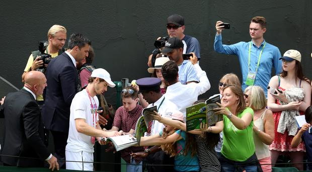Andy Murray has some enthusiastic fans